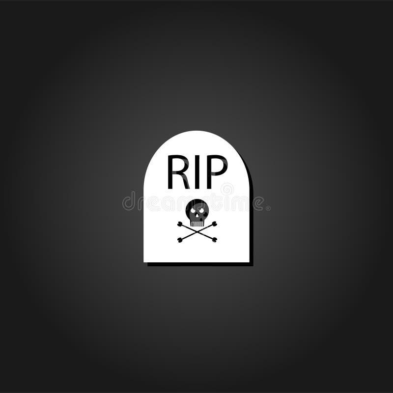 Ο τάφος ΣΧΙΖΕΙ το επίπεδο εικονιδίων ελεύθερη απεικόνιση δικαιώματος