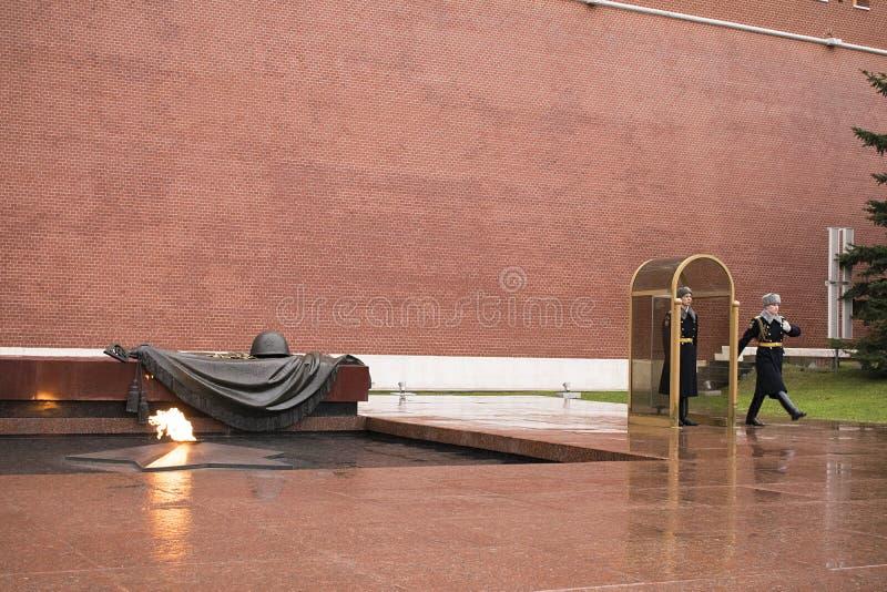 Ο τάφος του άγνωστου στρατιώτη, Μόσχα, Ρωσία στοκ εικόνες με δικαίωμα ελεύθερης χρήσης