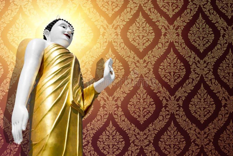 Ο ταϊλανδικός ασιατικός Βούδας για την ταπετσαρία ελεύθερη απεικόνιση δικαιώματος