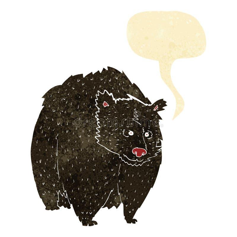 ο τεράστιος Μαύρος αντέχει τα κινούμενα σχέδια με τη λεκτική φυσαλίδα διανυσματική απεικόνιση