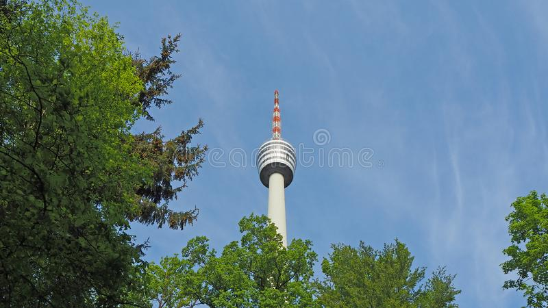 Ο τηλεοπτικός πύργος Fernsehturm στη Στουτγάρδη Γερμανία στοκ φωτογραφίες με δικαίωμα ελεύθερης χρήσης