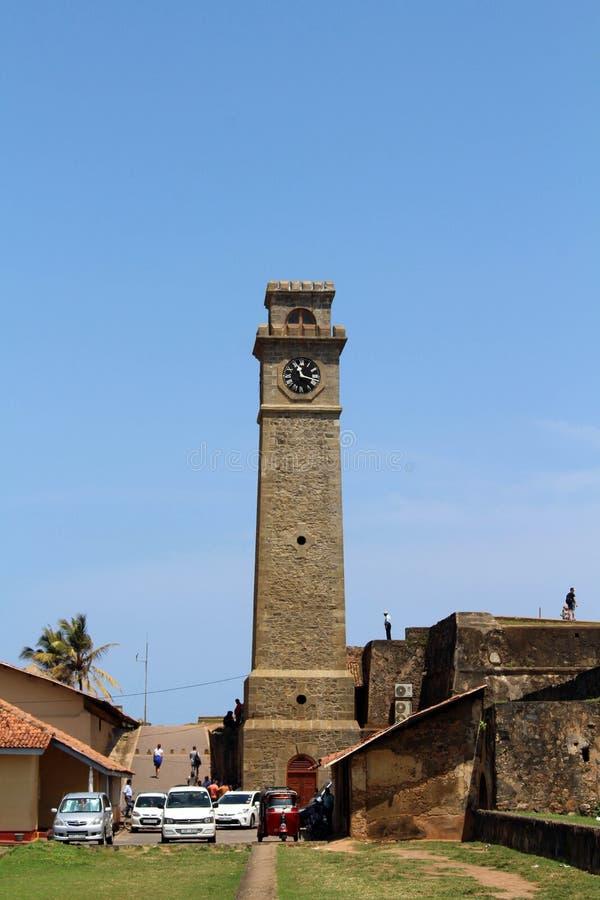 Ο τοίχος και ο πύργος ρολογιών γύρω από το οχυρό Galle στοκ φωτογραφία με δικαίωμα ελεύθερης χρήσης