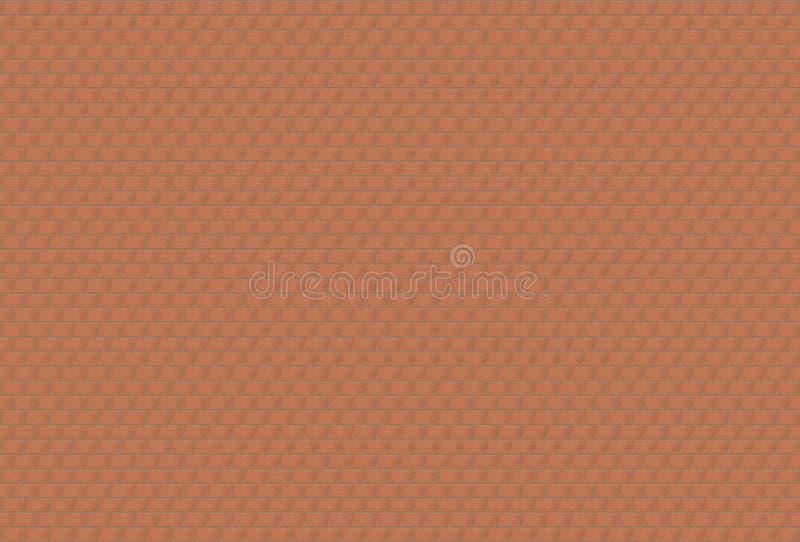 Ο τοίχος πετρών υποβάθρου αποτελείται από πολλά μικρά κόκκινα τούβλα ελεύθερη απεικόνιση δικαιώματος