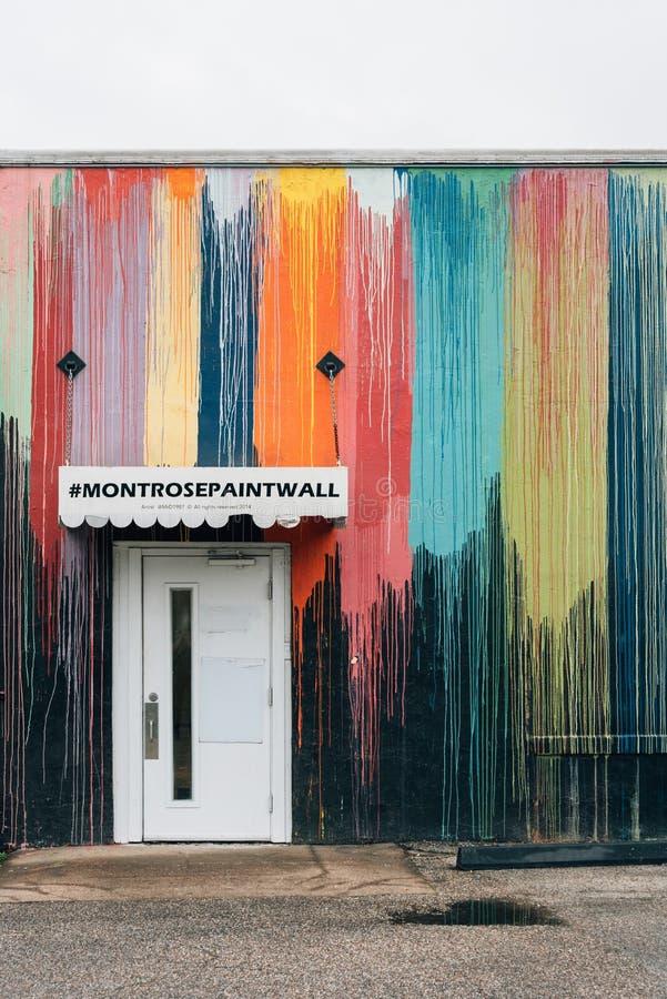 Ο τοίχος χρωμάτων Montrose, στο Χιούστον, Τέξας στοκ εικόνες με δικαίωμα ελεύθερης χρήσης