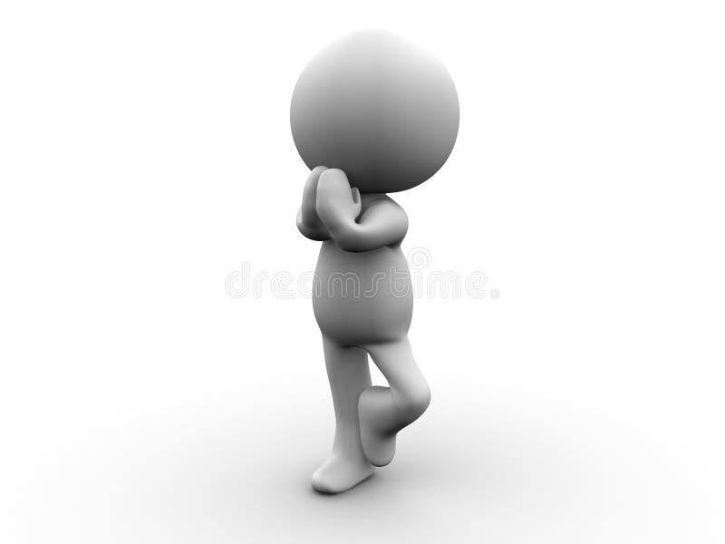 το τρισδιάστατο άτομο στον αετό θέτει διανυσματική απεικόνιση