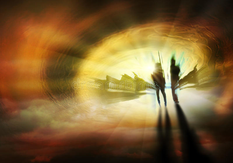 Ο τρόπος στον ουρανό στοκ φωτογραφία με δικαίωμα ελεύθερης χρήσης