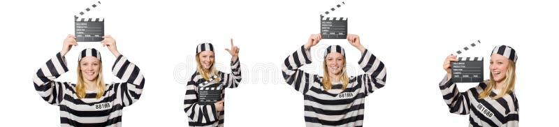 Ο τρόφιμος με clapper κινηματογράφων στοκ φωτογραφία με δικαίωμα ελεύθερης χρήσης