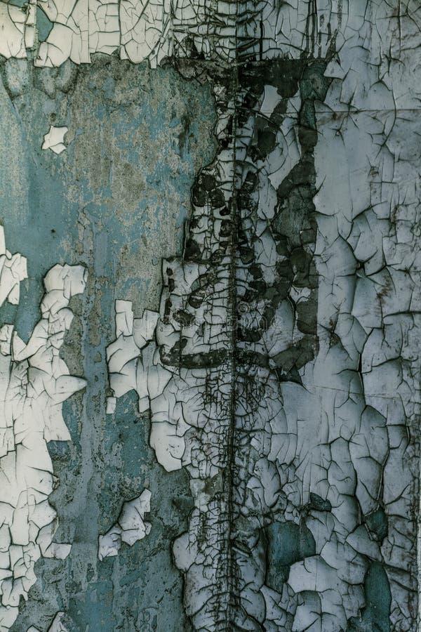 Ο τρύγος χρωμάτισε την ξύλινη σύσταση υποβάθρου του ξύλινου ξεπερασμένου αγροτικού τοίχου με το χρώμα αποφλοίωσης Κενό διάστημα γ στοκ εικόνα