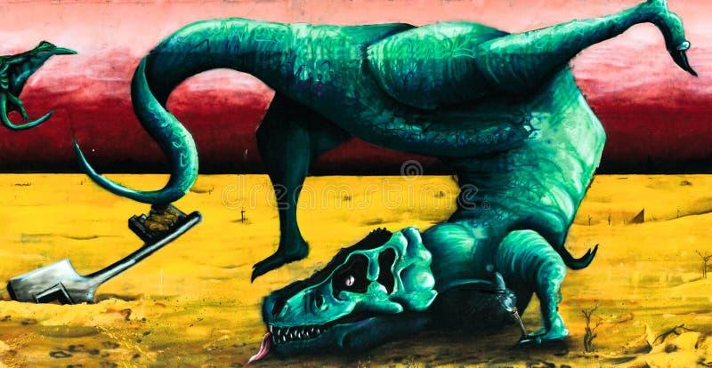 Ο τυραννόσαυρος rex χορεύει στοκ εικόνες