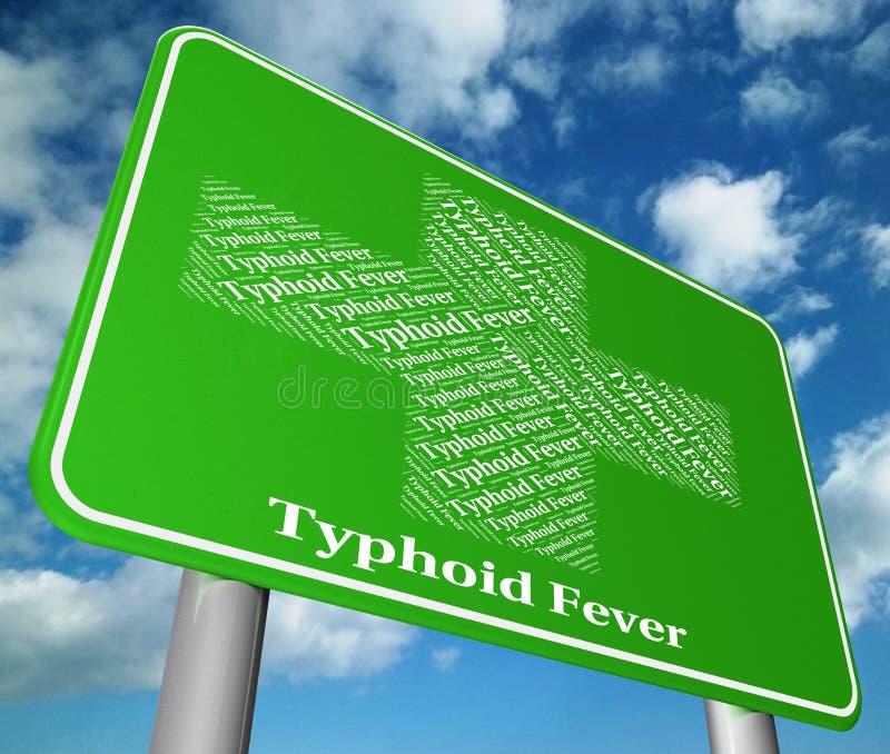 Ο τυφοειδής πυρετός αντιπροσωπεύει τη συμπτωματικά βακτηριακά μόλυνση και Aff διανυσματική απεικόνιση