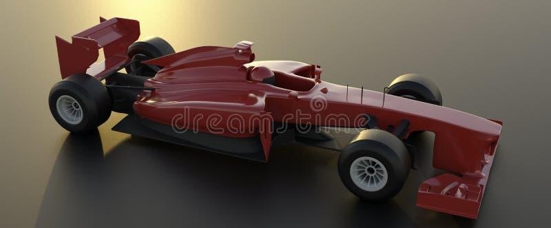 Ο τύπος 1, κόκκινο αυτοκίνητο, τρισδιάστατο δίνει διανυσματική απεικόνιση