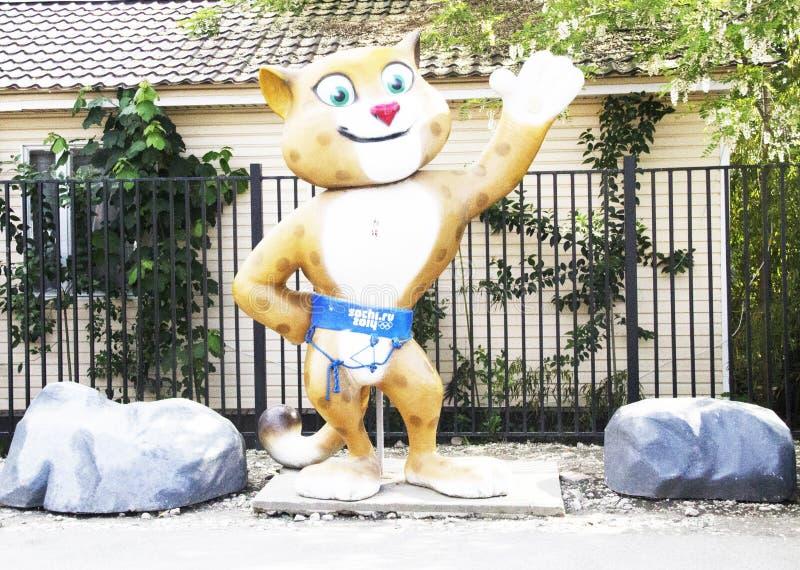 Ολυμπιακή γάτα στοκ εικόνες