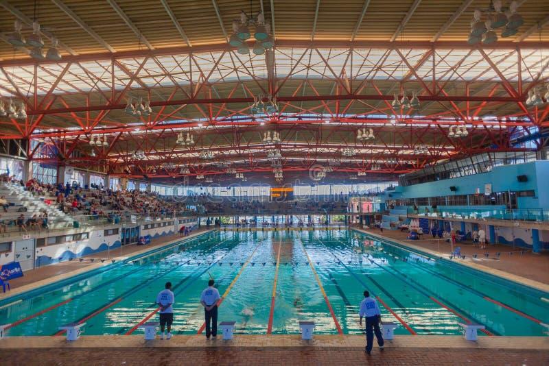 Ολυμπιακή πισίνα στο εσωτερικό Ντάρμπαν στοκ εικόνες
