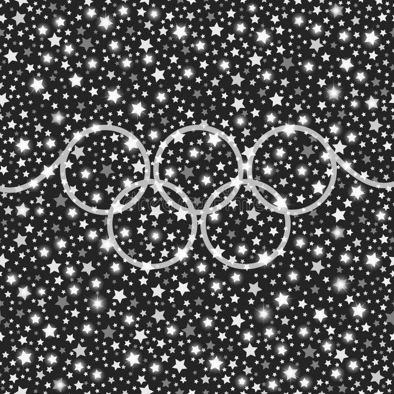 Ολυμπιακό λάμποντας υπόβαθρο αστεριών ύφους ασημένιο μειωμένο ελεύθερη απεικόνιση δικαιώματος