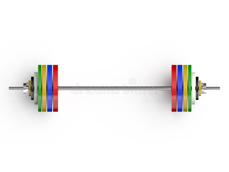 Ολυμπιακό μέτωπο barbells απεικόνιση αποθεμάτων