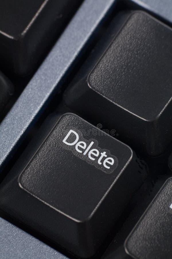 ο υπολογιστής διαγράφ&epsilon στοκ εικόνα