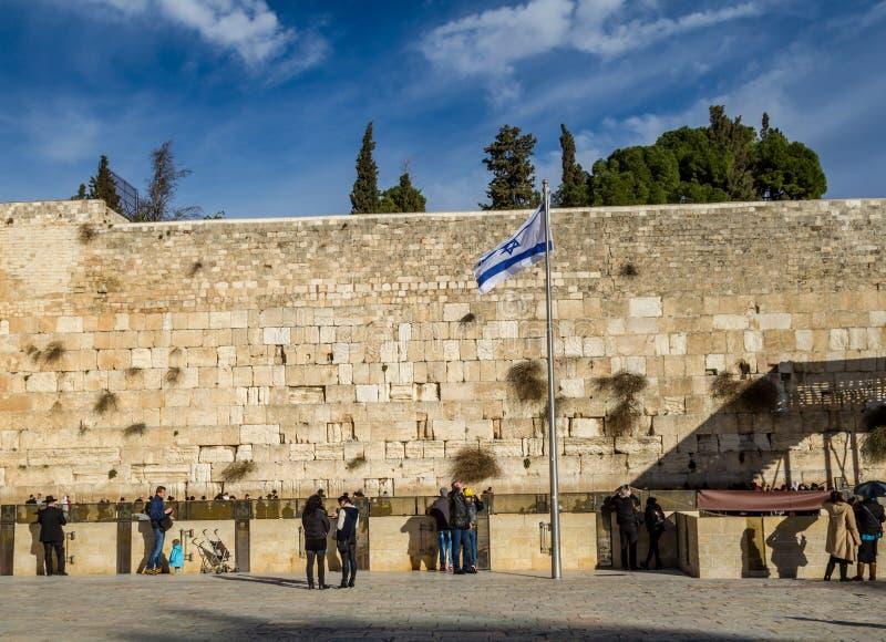 Ο δυτικός τοίχος, ναός τοποθετεί, Ιερουσαλήμ στοκ εικόνες