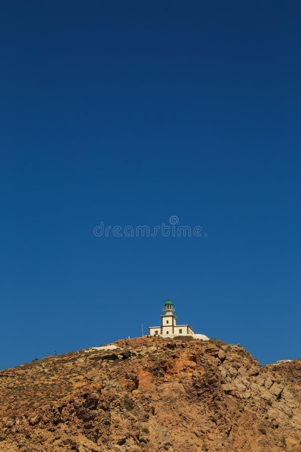 Ο φάρος Akrotiri σε Santorini στοκ εικόνα