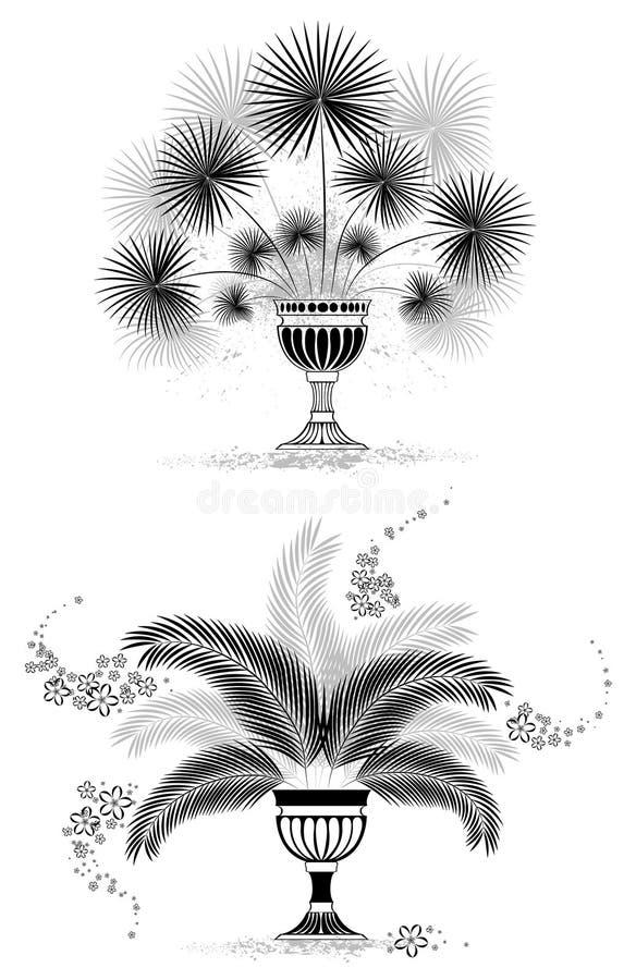 ο φοίνικας φύλλων σκιαγ&rho ελεύθερη απεικόνιση δικαιώματος