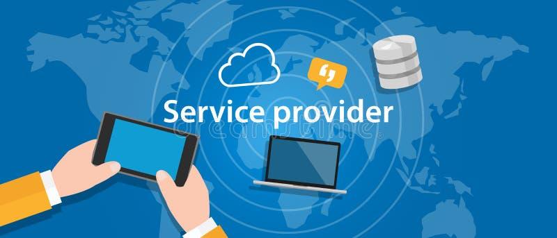 Ο φορέας παροχής υπηρεσιών για την επιχείρηση δικτύων Ίντερνετ συνδέει ελεύθερη απεικόνιση δικαιώματος
