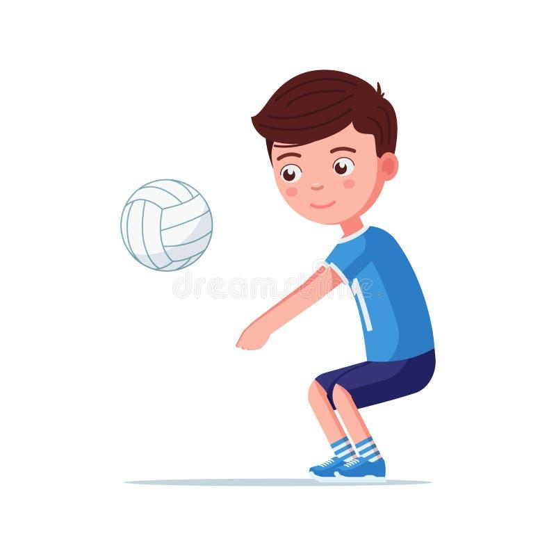 Ο φορέας πετοσφαίρισης αγοριών παίρνει τη σφαίρα απεικόνιση αποθεμάτων