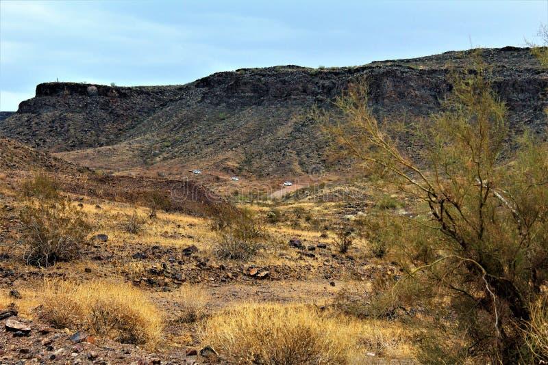 Ο φραγμός ερήμων, Parker, Αριζόνα, Ηνωμένες Πολιτείες στοκ εικόνες με δικαίωμα ελεύθερης χρήσης