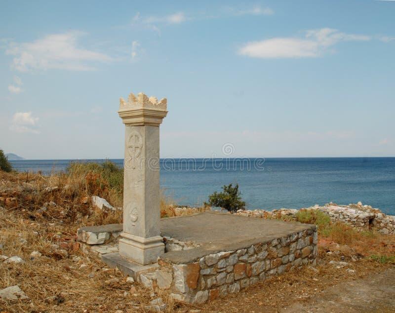 Ο φύλακας της θάλασσας και του ουρανού στοκ φωτογραφίες