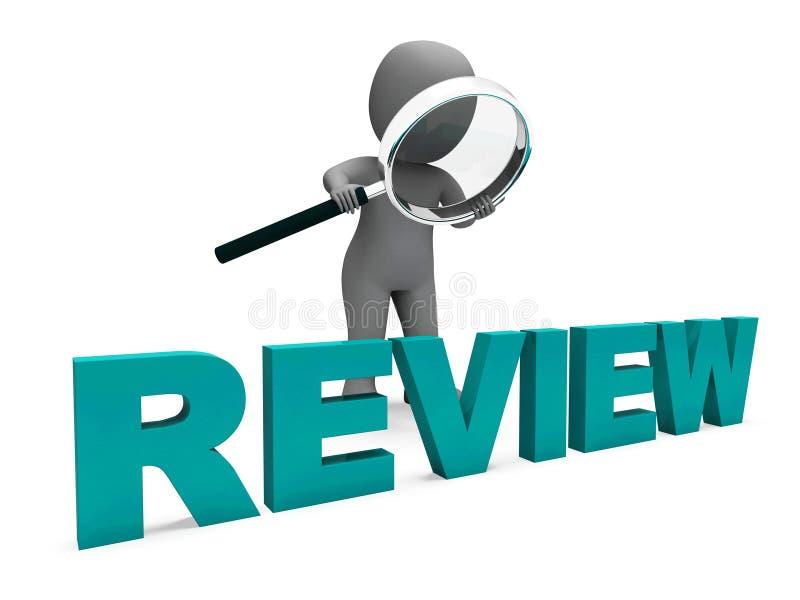 Ο χαρακτήρας αναθεώρησης παρουσιάζει ότι αξιολογήστε η αναθεώρηση αξιολογεί και αναθεωρήσεις ελεύθερη απεικόνιση δικαιώματος