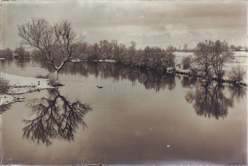 Ο χειμερινός scenary τρύγος κοιτάζει στοκ εικόνες