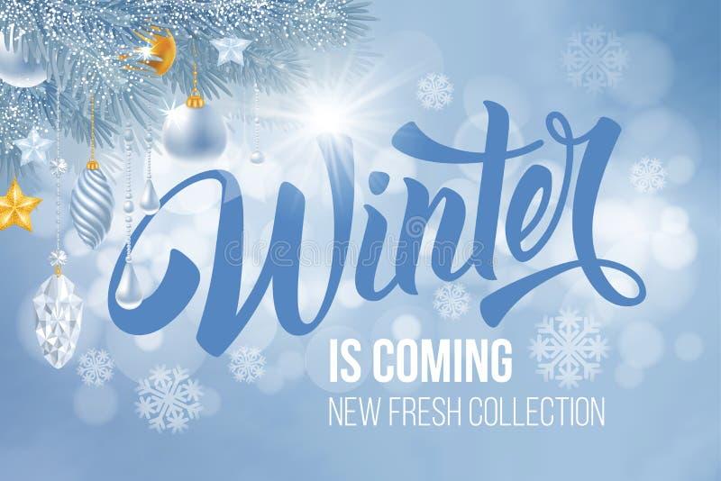 Ο χειμώνας έρχεται απεικόνιση αποθεμάτων