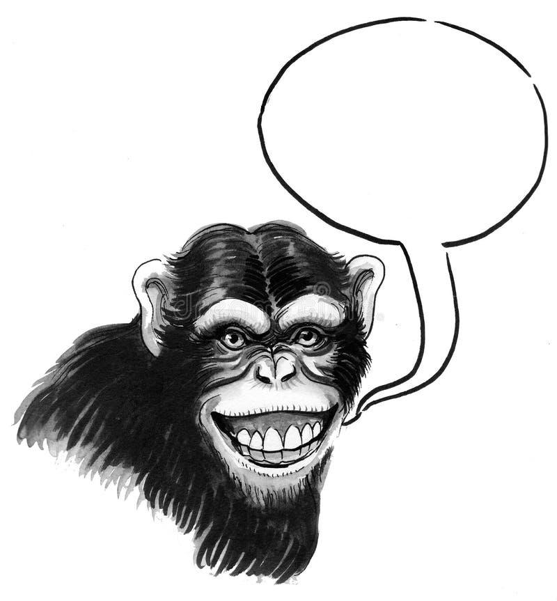 Ο χιμπατζής μιλά ελεύθερη απεικόνιση δικαιώματος