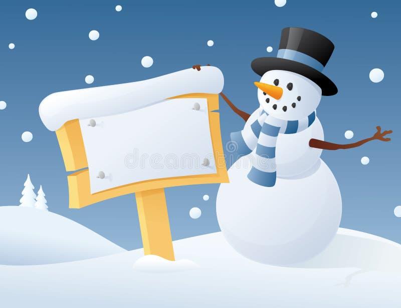 Ο χιονάνθρωπος λέει ελεύθερη απεικόνιση δικαιώματος