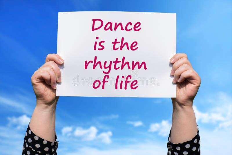 Ο χορός είναι ο ρυθμός της ζωής στοκ εικόνα με δικαίωμα ελεύθερης χρήσης