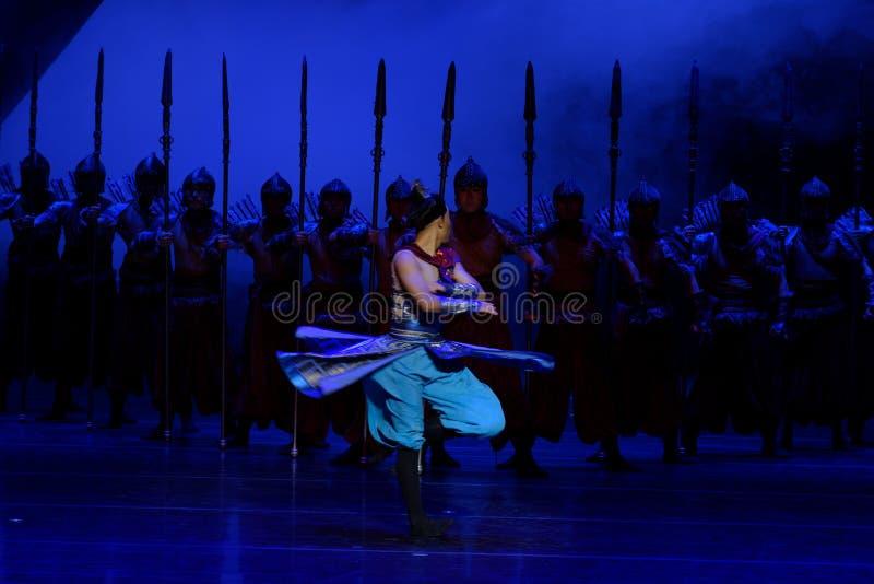 Ο χορός του Σαμουράι η 1-τέσσερα πράξη ` εμπόδισε τον εκτελωνισμό ` - επική πριγκήπισσα ` μεταξιού δράματος ` χορού στοκ εικόνες με δικαίωμα ελεύθερης χρήσης