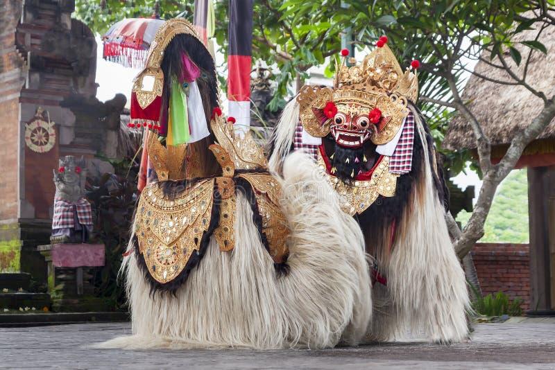 Ο χορός Barong παρουσιάζει στοκ εικόνα με δικαίωμα ελεύθερης χρήσης