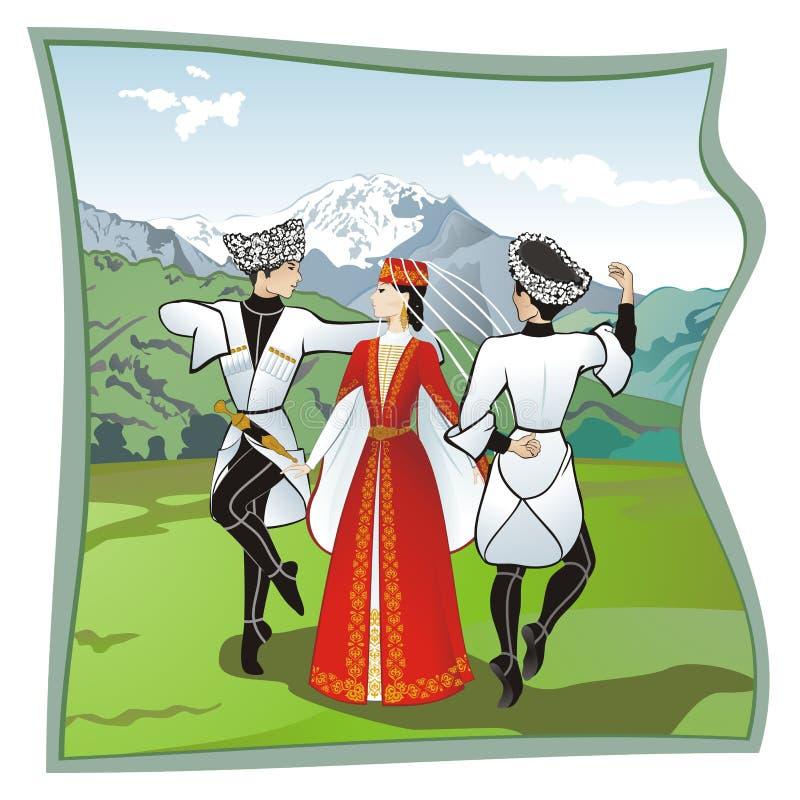 Ο χορός Lezginka στοκ φωτογραφία με δικαίωμα ελεύθερης χρήσης