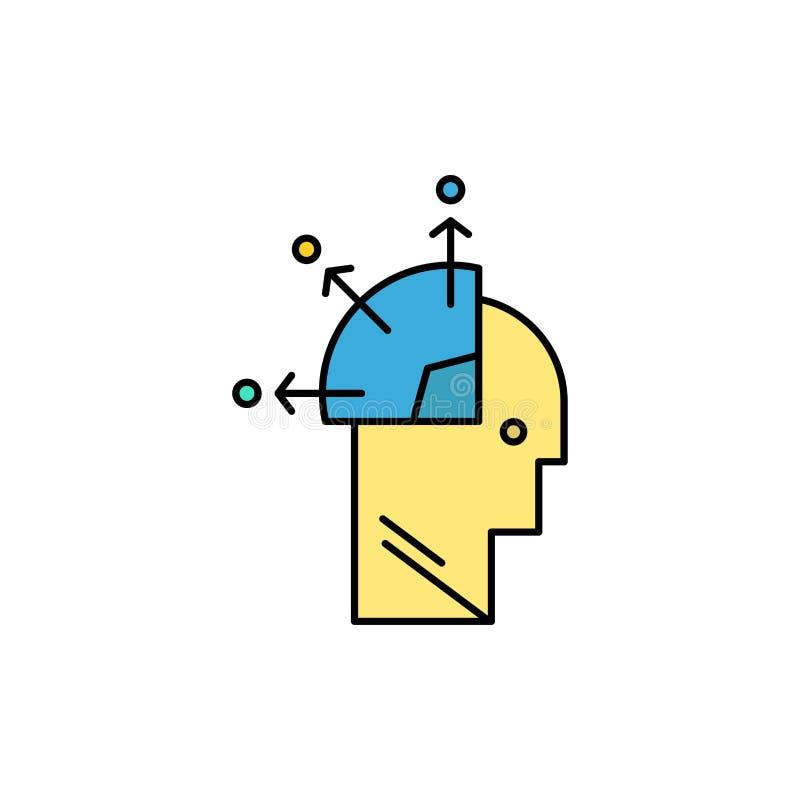 Ο χρήστης, άτομο, απασχολεί, επίπεδο εικονίδιο χρώματος τέχνης Διανυσματικό πρότυπο εμβλημάτων εικονιδίων ελεύθερη απεικόνιση δικαιώματος