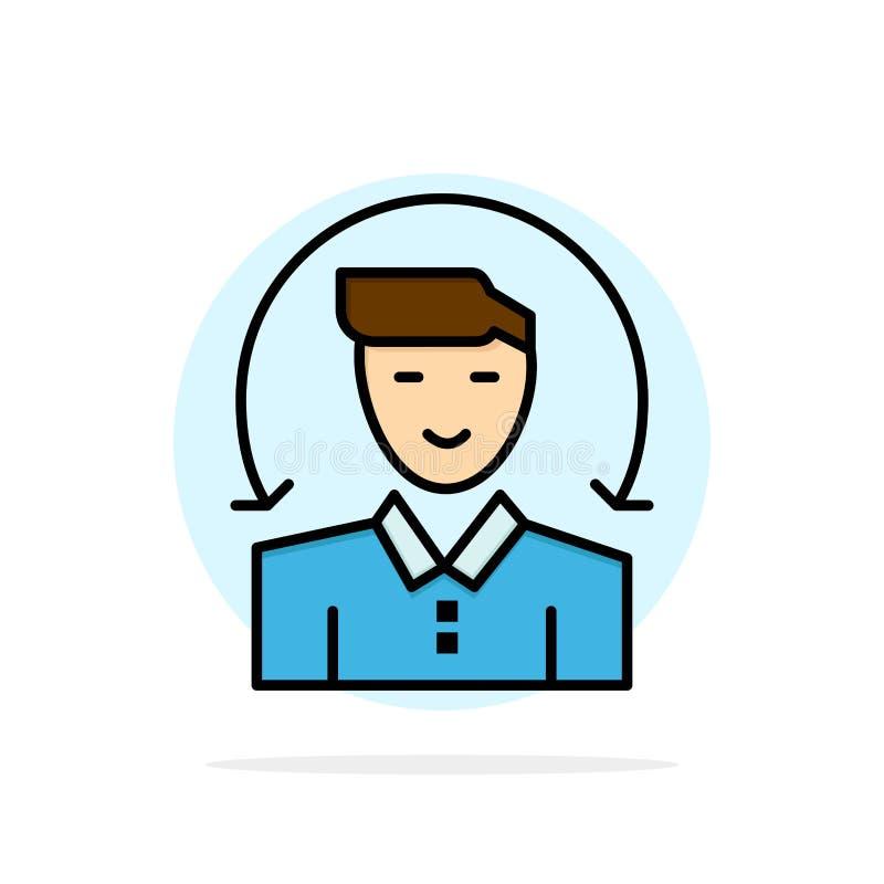 Ο χρήστης, αρσενικό, πελάτης, υπηρεσίες αφαιρεί το επίπεδο εικονίδιο χρώματος υποβάθρου κύκλων απεικόνιση αποθεμάτων