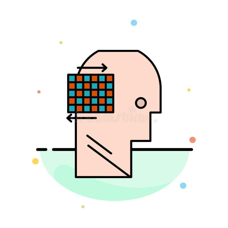 Ο χρήστης, σκέφτεται, επιτυχία, πρότυπο εικονιδίων επιχειρησιακού αφηρημένο επίπεδο χρώματος διανυσματική απεικόνιση