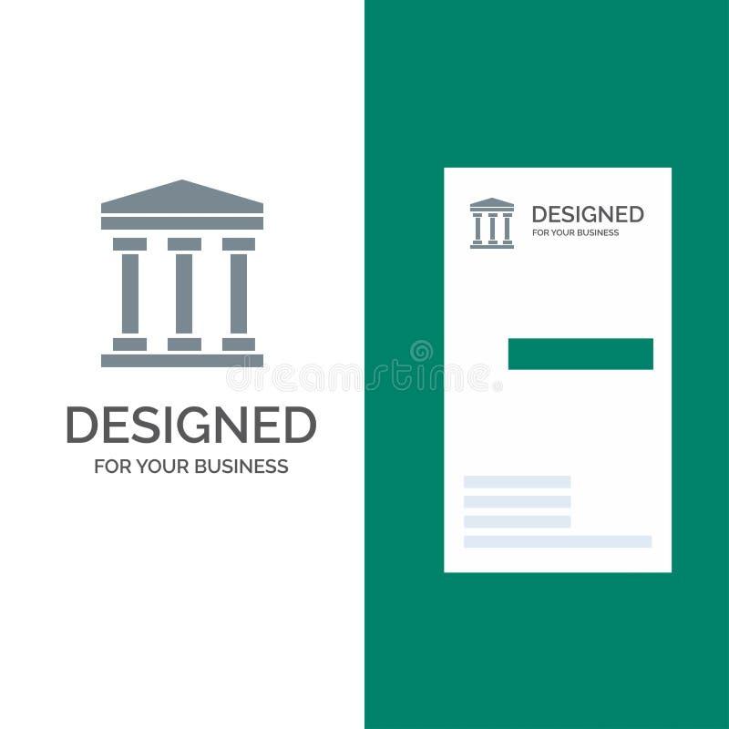 Ο χρήστης, τράπεζα, εξαργυρώνει το γκρίζο σχέδιο λογότυπων και το πρότυπο επαγγελματικών καρτών ελεύθερη απεικόνιση δικαιώματος
