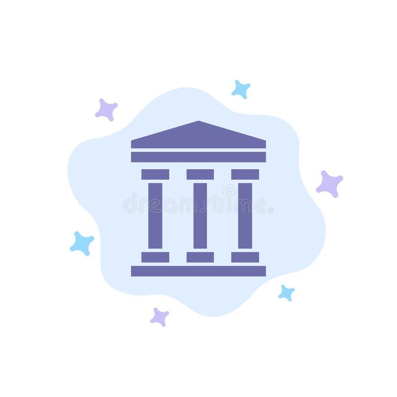 Ο χρήστης, τράπεζα, εξαργυρώνει το μπλε εικονίδιο στο αφηρημένο υπόβαθρο σύννεφων απεικόνιση αποθεμάτων