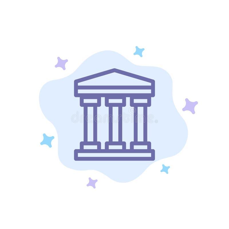 Ο χρήστης, τράπεζα, εξαργυρώνει το μπλε εικονίδιο στο αφηρημένο υπόβαθρο σύννεφων ελεύθερη απεικόνιση δικαιώματος