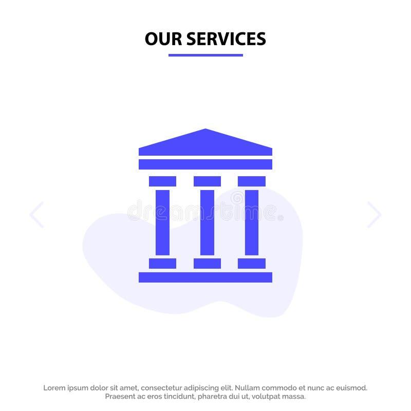 Ο χρήστης υπηρεσιών μας, τράπεζα, στερεό πρότυπο καρτών Ιστού εικονιδίων Glyph μετρητών ελεύθερη απεικόνιση δικαιώματος