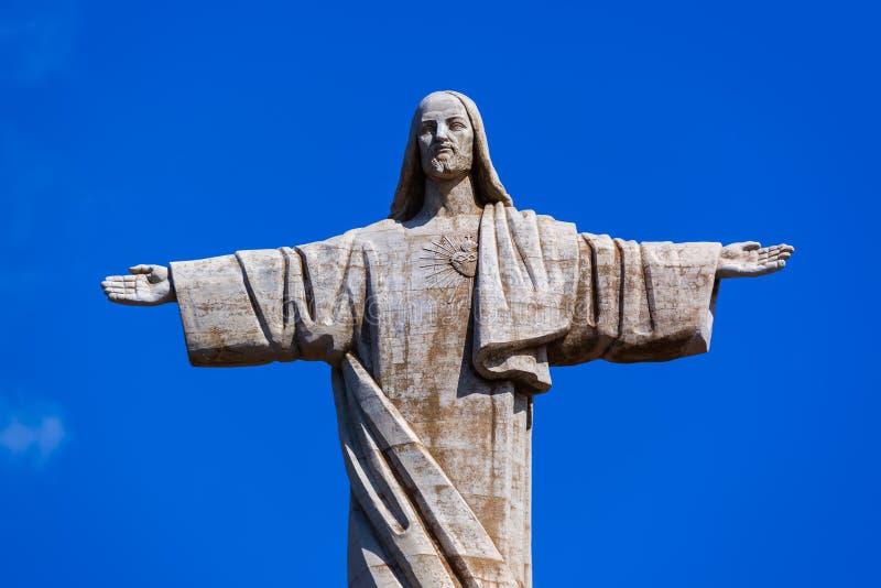 Ο Χριστός το άγαλμα βασιλιάδων στο νησί της Μαδέρας - Πορτογαλία στοκ φωτογραφία με δικαίωμα ελεύθερης χρήσης
