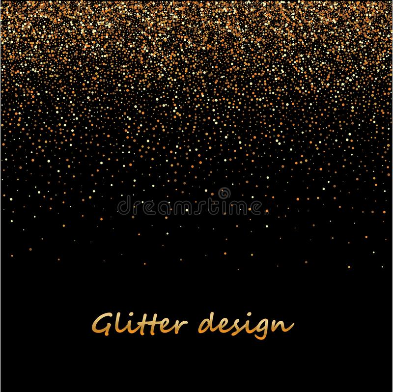 Ο χρυσός ακτινοβολεί σύσταση σε ένα μαύρο υπόβαθρο Χρυσή έκρηξη του κομφετί Χρυσή κοκκώδης αφηρημένη σύσταση στο Μαύρο στοκ εικόνες