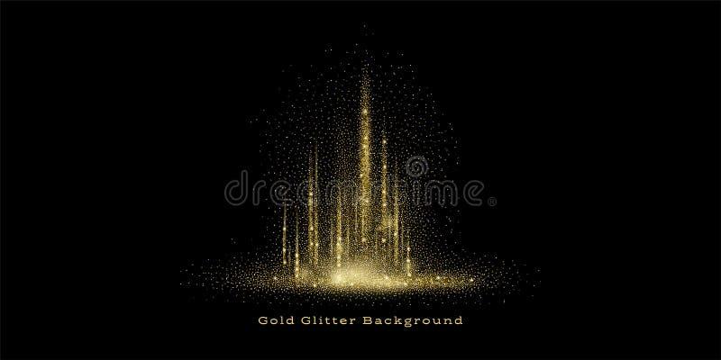 Ο χρυσός ακτινοβολεί υπόβαθρο ελεύθερη απεικόνιση δικαιώματος