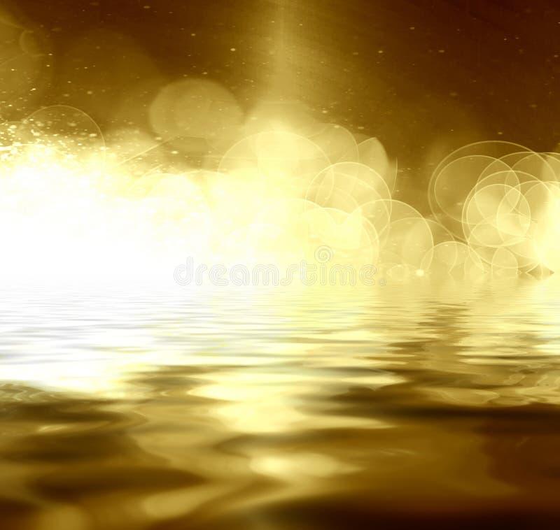 Ο χρυσός ακτινοβολεί διανυσματική απεικόνιση
