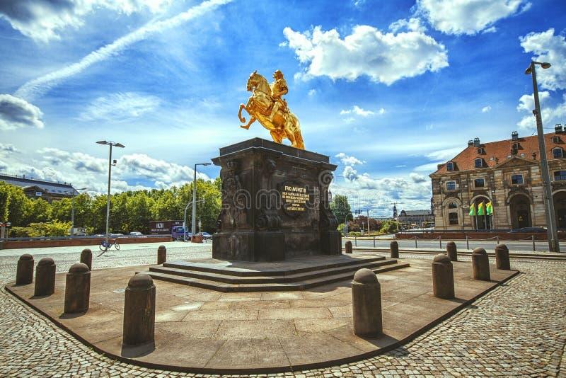 Ο χρυσός αναβάτης Goldener Reiter στοκ φωτογραφία με δικαίωμα ελεύθερης χρήσης
