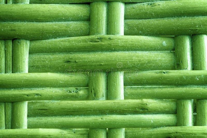 Ο χρυσός ασβέστης χρωμάτισε την ξύλινη ψάθινη σύσταση της καλαθοπλεκτικής για τη χρήση υποβάθρου στοκ εικόνα