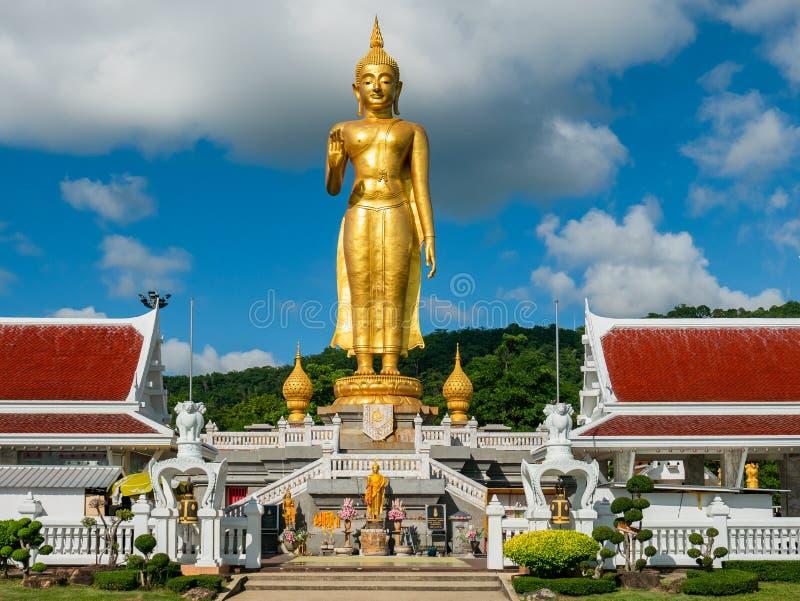 Ο χρυσός Βούδας στο καπέλο Yai, Ταϊλάνδη στοκ εικόνα